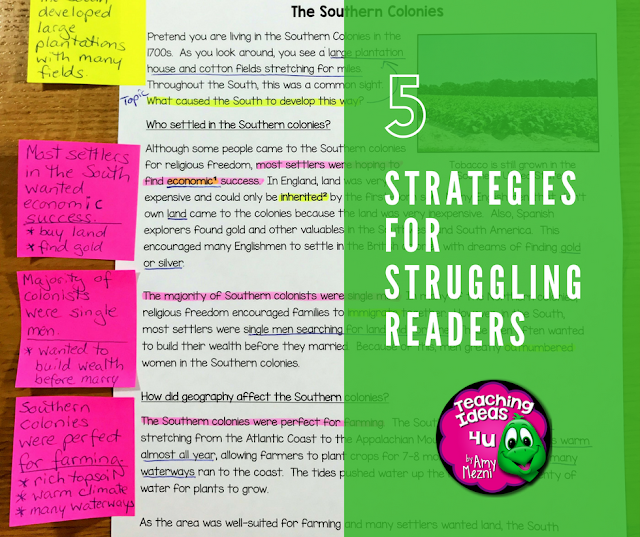5 Strategies for Struggling Readers