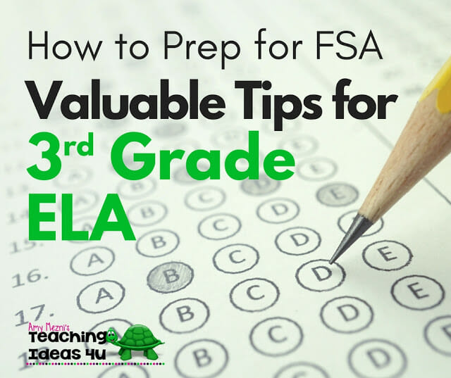 How to Prep for FSA: Valuable Tips for 3rd Grade ELA - This post unpacks the 3rd grade ELA FSA test and standards and discusses which concepts to focus on during your test review.