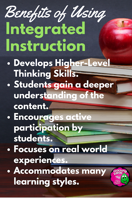 Integrated Instruction Pros and Cons - Teaching Ideas 4U - Amy Mezni