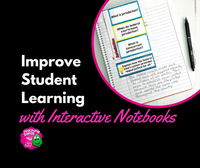 Teaching Ideas 4u - Amy Mezni - How to Improve Student Learning with Interactive Notebooks - Interactive notebooks can be powerful tools to improve students reading comprehension and note-taking skills, as well as support students