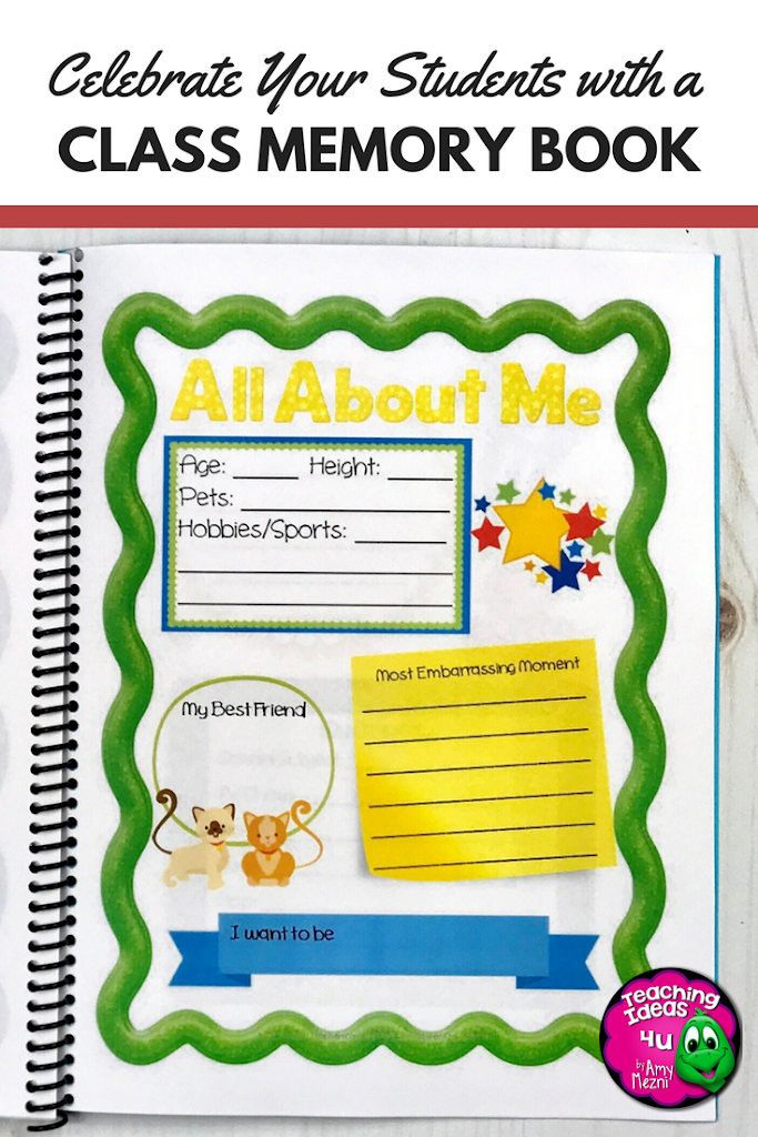 Class Memory Books are a great way to end the school year! Students have a change to reflect on their growth as they work together to complete a keepsake of their school year. Stop by the blog to learn more about this end of the year activity. Great for 3rd, 4th, 5th, or 6th grade.