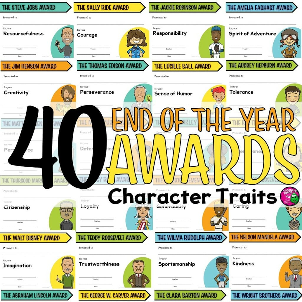 Honor Your Students' Character with End of the Year Awards