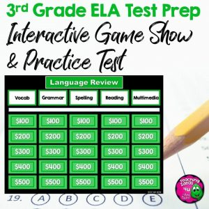Teaching Ideas 4U - Amy Mezni - 3rd Grade ELA Test Prep Game Show & Practice Review Test FSA AIR