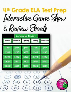 Teaching Ideas 4U - Amy Mezni - 4th Grade ELA Test Prep Game Show & Practice Review Test FSA AIR