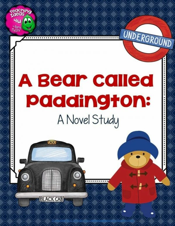 Teaching-Ideas-4U-Amy-Mezni-A-Bear-Called-Paddington-Complete-Novel-Study-Geography-Integrated-4th-6th-Grade