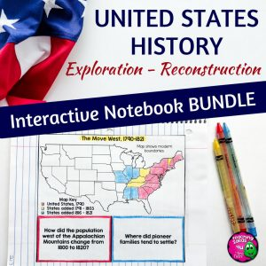 Teaching Ideas 4U - Amy Mezni - American History Interactive Notebook Exploration - Reconstruction Bundle 8th Gr