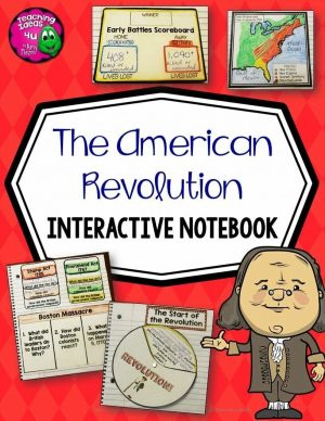 Teaching Ideas 4U - Amy Mezni - American Revolution & Revolutionary War Interactive Notebook 5th Grade