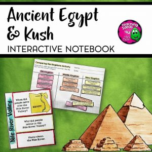 Teaching Ideas 4U - Amy Mezni - Ancient Egypt & Kush Interactive Notebook Unit 6th Grade INB