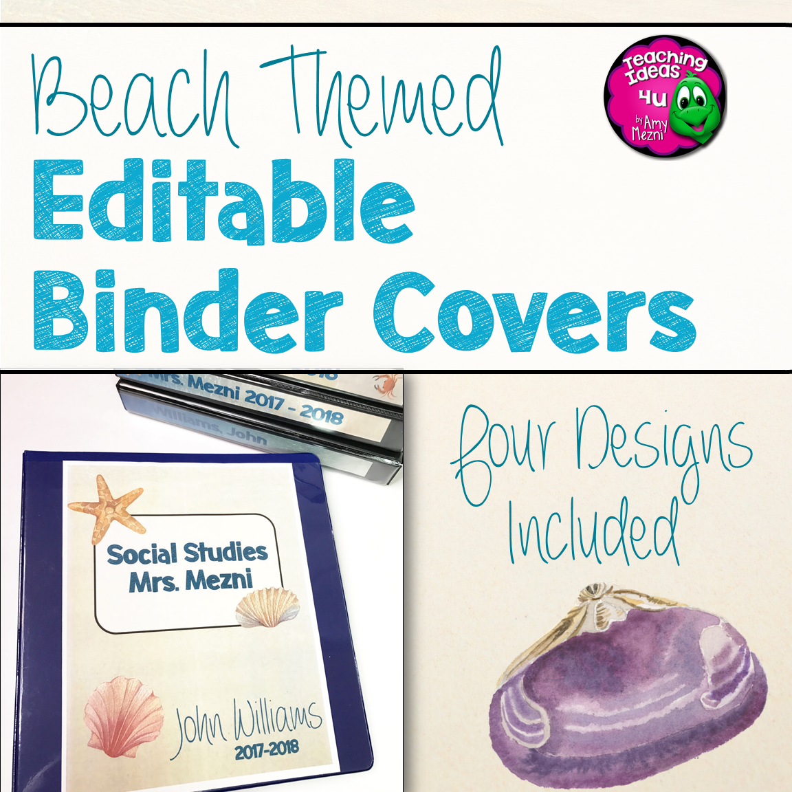 Teaching-Ideas-4U-Amy-Mezni-Beach-Ocean-Themed-Editable