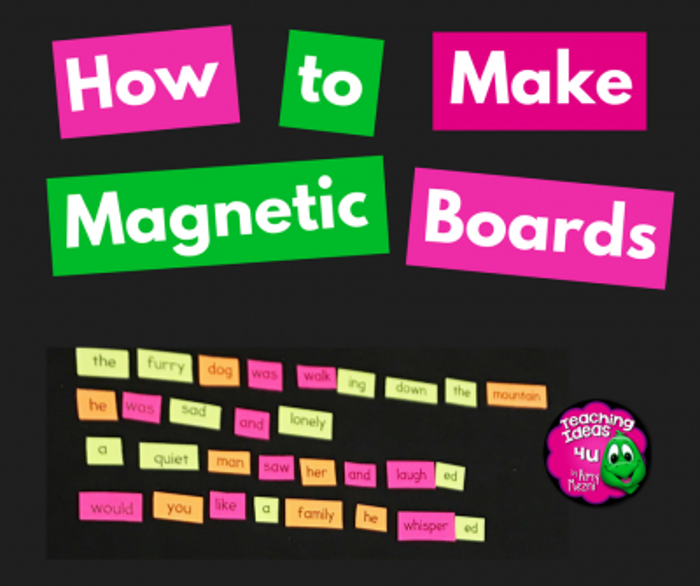 How to Make Magnetic Boards for Your Classroom