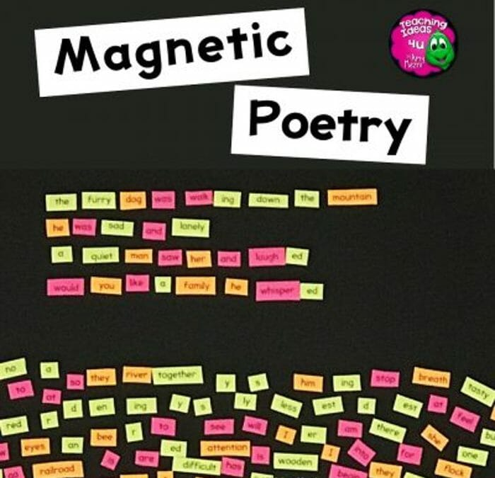 How To Make Your Own Magnetic Poetry Activity