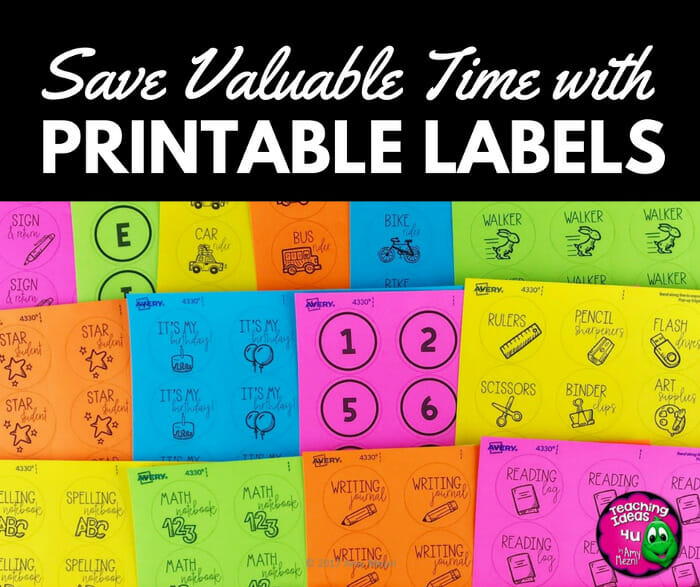 Save Valuable Time with Printable Labels
