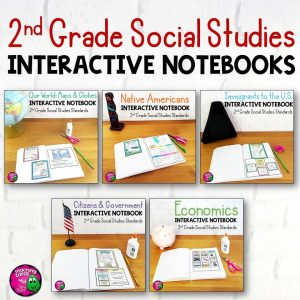 Teaching Ideas 4U - Amy Mezni - 2nd Grade Social Studies Interactive Notebook BUNDLE 5 Units