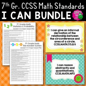 Teaching Ideas 4U - Amy Mezni - 7th Grade I Can Posters & Checklists CCSS MATH Standards Bundle