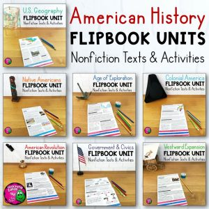 Teaching Ideas 4U - Amy Mezni - American History 7 Unit Bundle Informational Texts, Maps, & Activities