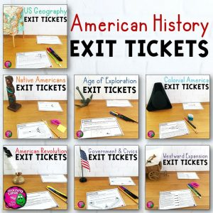 Teaching Ideas 4U - Amy Mezni - American History Exit Ticket Bundle US Geography - Westward Movement