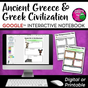 Teaching Ideas 4U - Amy Mezni - Ancient Greece & Greek Civilization DIGITAL Interactive Notebook World History