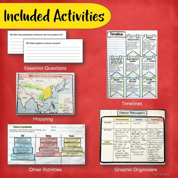 Teaching Ideas 4U - Amy Mezni - Ancient & Imperial China Interactive Notebook Unit 6th Grade INB Mongols