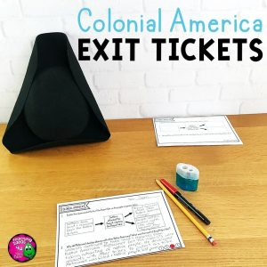 Teaching Ideas 4U - Amy Mezni - Colonial America Exit Tickets Set