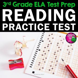 Teaching Ideas 4U - Amy Mezni - ELA Test Prep Reading Practice Test Fiction, Nonfiction, Grammar 3rd Grade FSA