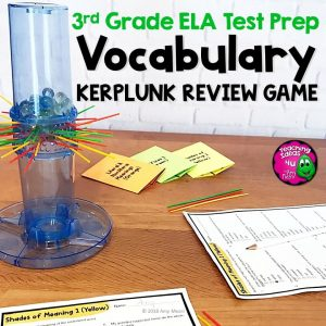 Teaching Ideas 4U - Amy Mezni - ELA Test Prep Vocabulary Kerplunk Review Game 3rd Grade FSA AIR