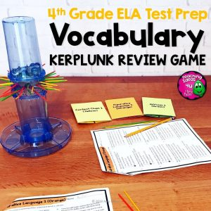 Teaching Ideas 4U - Amy Mezni - ELA Test Prep Vocabulary Kerplunk Review Game 4th Grade FSA AIR