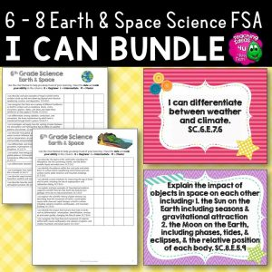 Teaching Ideas 4U - Amy Mezni - Earth & Space Science Florida Standards Posters & Checklists Bundle