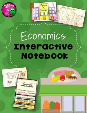 Teaching Ideas 4U - Amy Mezni - Economics Interactive Notebook Unit 3 3rd Grade