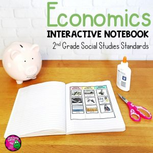 Teaching Ideas 4U - Amy Mezni - Economics Interactive Notebook for 2nd Grade Social Studies Financial Literacy