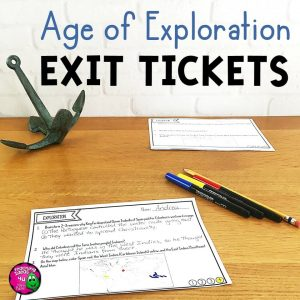 Teaching Ideas 4U - Amy Mezni - Explorers & the Age of Exploration Exit Tickets Set