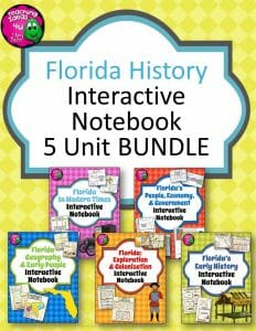 Teaching Ideas 4U - Amy Mezni - Florida History Interactive Notebook Social Studies BUNDLE 4th Grade