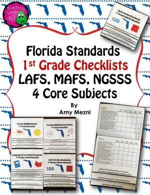 Teaching Ideas 4U - Amy Mezni - Florida Standards LAFS MAFS NGSSS 1st Grade Checklists Layered Flap Books