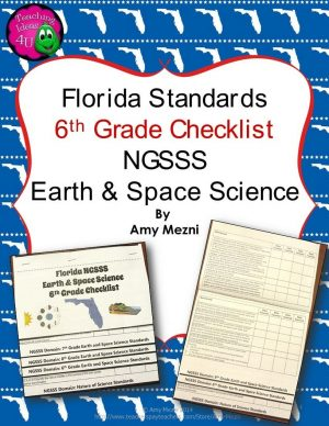 Teaching Ideas 4U - Amy Mezni - Florida Standards NGSSS Earth Space Science 6th Gr Checklist Layered Flap Book