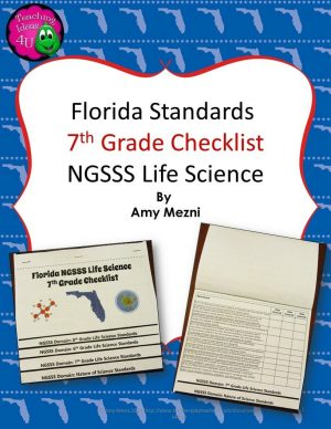 Teaching Ideas 4U - Amy Mezni - Florida Standards NGSSS Life Science 7th Grade Checklist Layered Flap Book