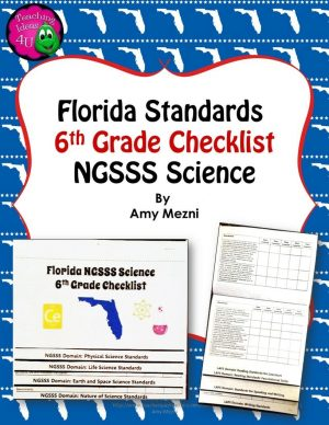 Teaching Ideas 4U - Amy Mezni - Florida Standards NGSSS Science 6th Grade Checklist Layered Flap Book