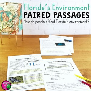 Teaching Ideas 4U - Amy Mezni - Florida's Environment Paired Passages, Reading Comprehension Questions & Writing