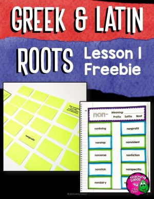Teaching Ideas 4U - Amy Mezni - Greek & Latin Root Study Week 1 non- FREEBIE 5 Days of Activities!