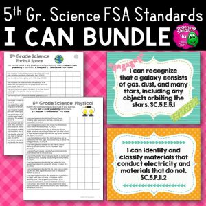 Teaching Ideas 4U - Amy Mezni - I Can Posters & Checklists Bundle 5th Grade Florida NGSSS Science Standards