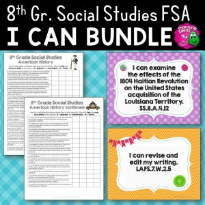 Teaching Ideas 4U - Amy Mezni - I Can Posters & Checklists Bundle 8th Grade Florida American History Standards