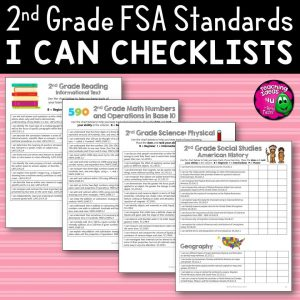 Teaching Ideas 4U - Amy Mezni - I Can Student Checklists for 2nd Grade Florida Standards LAFS MAFS NGSSS