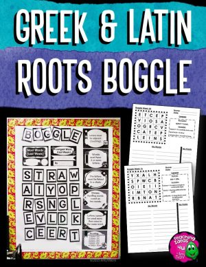 Teaching Ideas 4U - Amy Mezni - Latin & Greek Roots Morphology Editable BOGGLE Bulletin Board