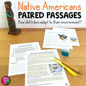 Teaching Ideas 4U - Amy Mezni - Native Americans Paired Reading Comprehension Passages & Informative Writing