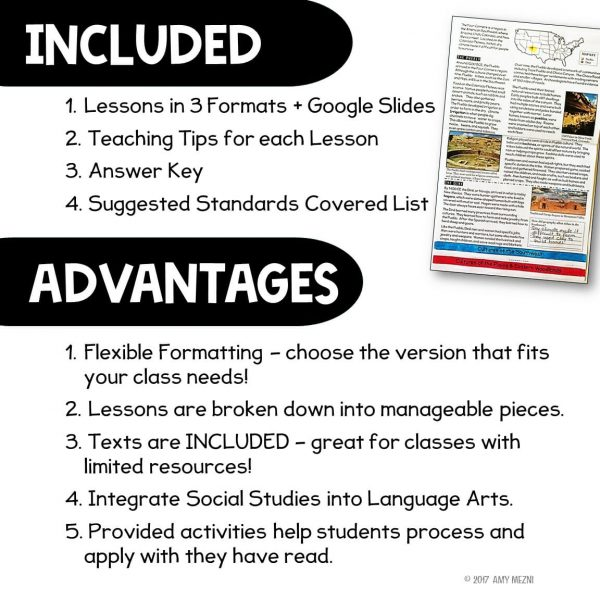 Teaching Ideas 4U - Amy Mezni - Native Americans Unit Informational Texts, Maps, & Activities Low Prep