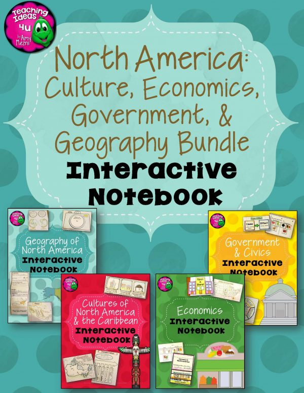 Teaching Ideas 4U - Amy Mezni - North America Social Studies Interactive Notebook Year-long BUNDLE