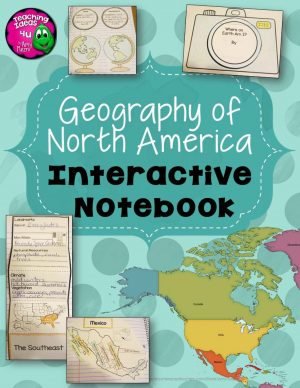 Teaching Ideas 4U - Amy Mezni - North America & United States Geography Interactive Notebook