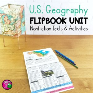 Teaching Ideas 4U - Amy Mezni - U.S.Geography Unit Informational Texts, Maps, Activities Regions United States