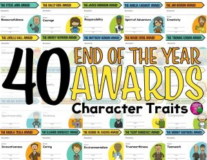 Teaching Ideas 4U - Amy Mezni - End of the Year Awards: 40 Character Traits & Historical People