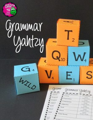 Teaching-Ideas-4U-Amy-Mezni-Grammar-Yahtzy-Word-Dice-Game-Grades-3