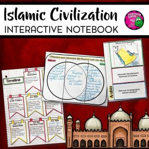 Teaching Ideas 4U - Amy Mezni - Islamic Civilization Interactive Notebook Unit 6th Grade INB