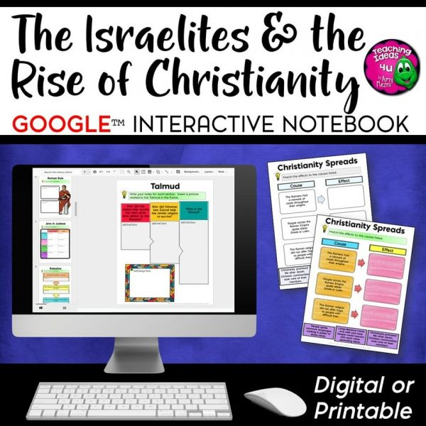 Teaching Ideas 4U - Amy Mezni - Israelites & Early Christianity DIGITAL Interactive Notebook Unit Ancient Israel